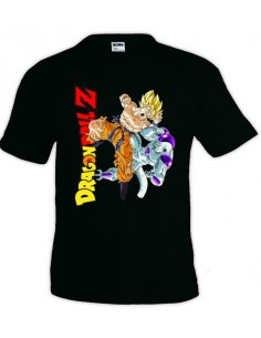 Camiseta Dragon Ball Z Goku Vs Freezer, Negra | Mx Games