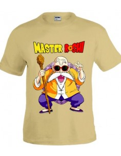 Camiseta Dragon Ball, Master Roshi color gris arena | Mx Games