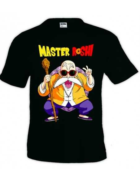Camiseta Dragon Ball, Master Roshi color negro | Mx Games