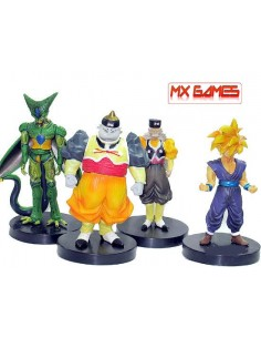 Figuras Dragon Ball Z pack 4 unidades androides - Mx Games