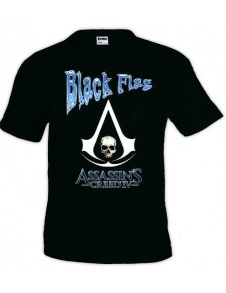 Camiseta Assassin creed black flag, diseño blue | Mx Games