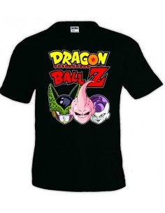 Camiseta Dragon Ball-Z , Celula,Buu,freezer color negra | Mx Games