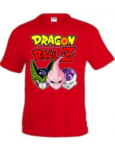 Camiseta Dragon Ball-Z , Celula,Buu,freezer color roja | Mx Games