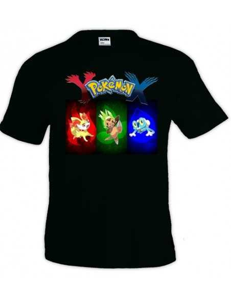 Camiseta Pokemon X - Y ,manga corta diseño colors - Mx Games