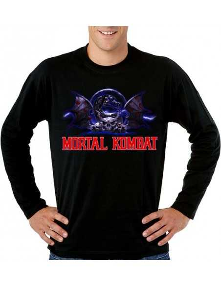 Camiseta Mortal Kombat - Blue- manga larga - Mx Games