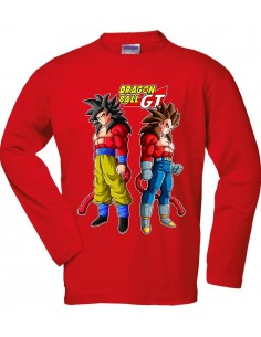 Camiseta  Dragon Ball GT de manga Larga - Saiyan 4