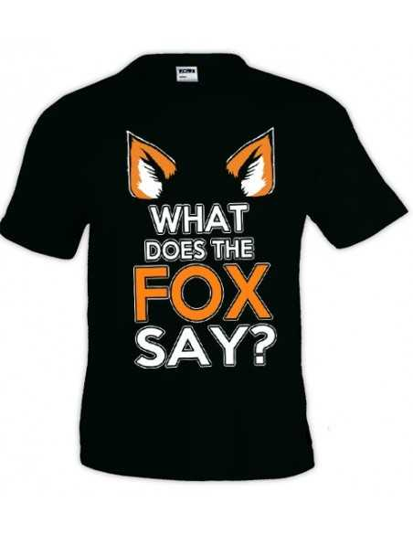 Camiseta what does the fox say ? manga corta - Mx Games