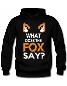 Sudadera what does the fox say ? manga Larga - Mx Games