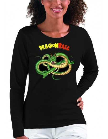 Camiseta mujer - Dragon Ball Z dragon shenronz manga larga