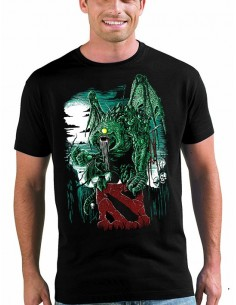 Camiseta Dota 2 Monstruo Fan-art manga corta Unisex