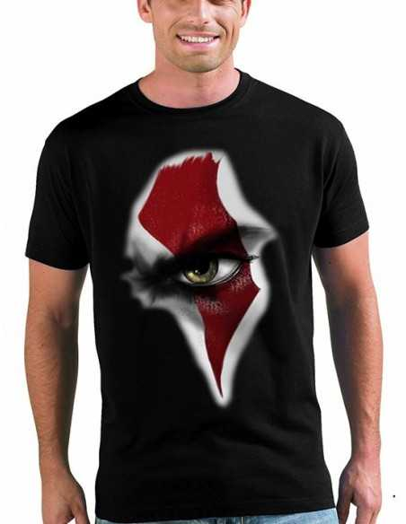 "Camiseta ""God Of War"" eye of Kratos color negro manga corta"
