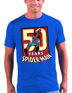 Camiseta Spider man 50 Aniversario color azul