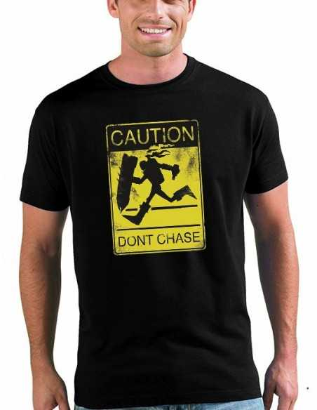 "Camiseta League of legends diseño ""Caution"" color negro unisex"