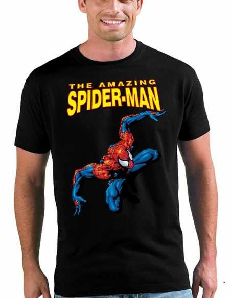 Camiseta Amazing Spiderman classic color negro unisex