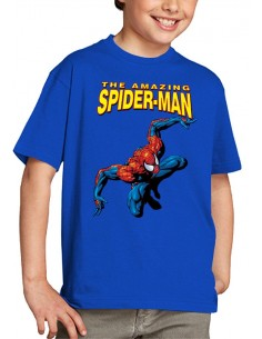 "Camiseta Amazing Spiderman niño modelo ""classic"" color azul unisex"