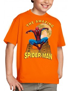 "Camiseta Spider-man niño modelo ""Moon"" color Naranja"