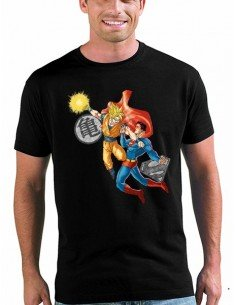 Camiseta Son Goku Vs Superman, manga corta