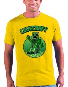 Camiseta Creeper-Minecraft Lovecaft manga corta