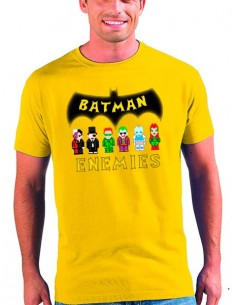 Camiseta Batman Enemies manga corta