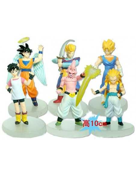 Pack 6 figuras Dragon Ball Z Son Gohan,Goku, vidal, Buu, Vegetto, Gotenks