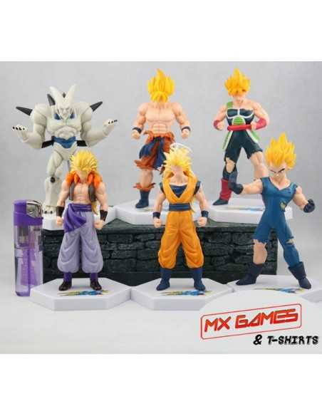 Pack 6 figuras Dragon Ball con peana Hexagonal