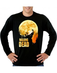 "Camiseta The Walking Dead ""Precipicio"" manga larga"