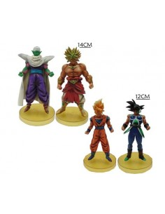 Pack de 4 Figuras de dragon Ball Z Goku,Piccolo,Broly