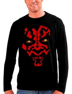 Camiseta Star Wars Darth Maul art manga larga
