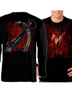 camiseta Daryl Dixon the walking dead de manga larga
