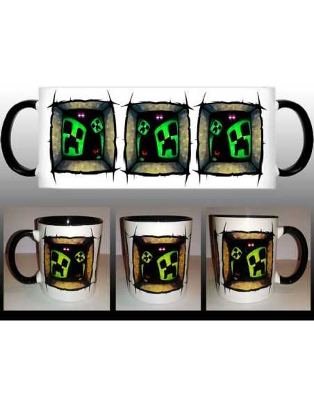 Taza Minecraft creeper ventanas