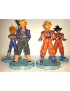 Pack 4 figuras Dragon Ball Z Goku Super sayan,Son Goku,Vegeta Magin y Trunks