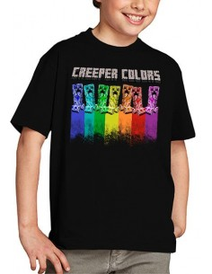 Camiseta Creeper colors Minecraft niños
