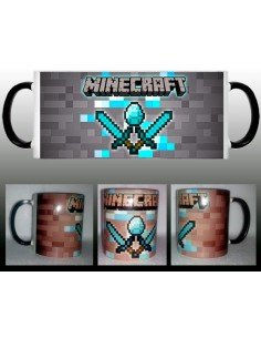 Taza Minecraft Diamante custom
