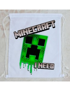 Bolsa de playa I need Minecraft
