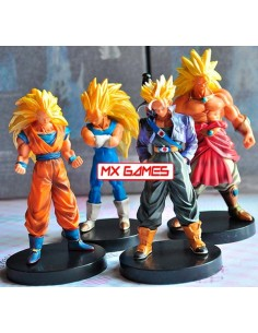 Pack de 4 Figuras de dragon Ball Z Super Saiyan de 16 cms