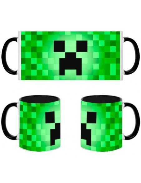 Taza creeper minecraft pixel