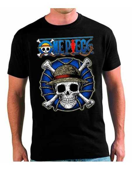 Camiseta One Piece salvavidas Jolly Roger Luffy