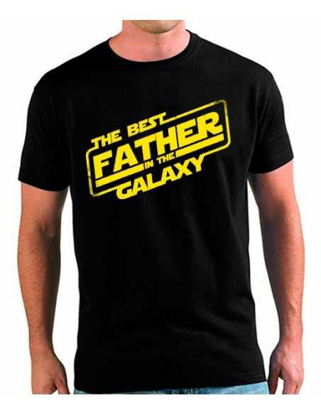 Camiseta día del padre Best Father in The Galaxy