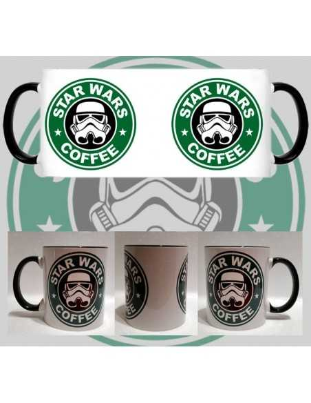 Taza Star Wars Stormtrooper starbuck cafe