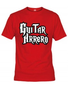 "Camiseta divertida Guitar hero ""humor"" Guitarrhrrero"