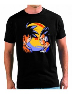 Camiseta Dragon Ball Z Goku vs Vegeta