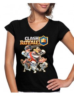 Camiseta Mujer Clash Royale Caballero Vs Skeletons