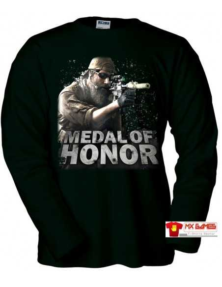 Camiseta Medal of Honor manga larga (Zoom)