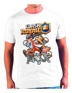 Camiseta Clash Royale Caballero con Skeletons - Poli