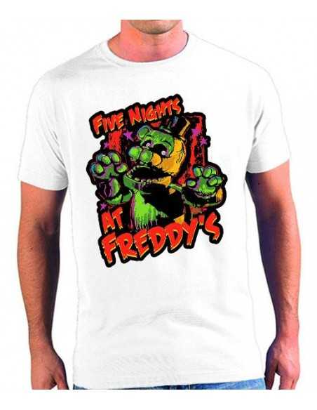 Camiseta five nights at freddy's Colors Poliester