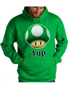 Sudadera Super Mario Bros 1 up verde