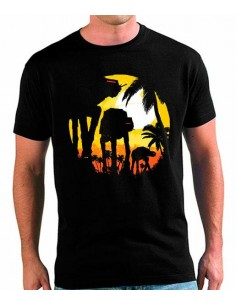 Camiseta Star Wars AT-AT Atardecer