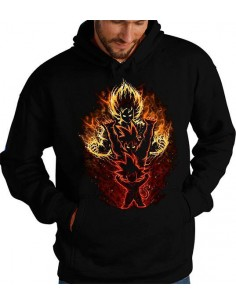 Sudadera Dragon Ball Z Goku Evolution Saiyan