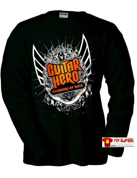 Camiseta Guitar Hero Warriors of Rock (manga larga negra)