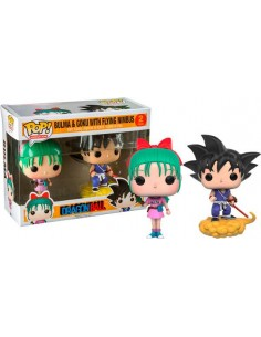 Figuras Funko Pop Bulma y Goku Dragon Ball Z